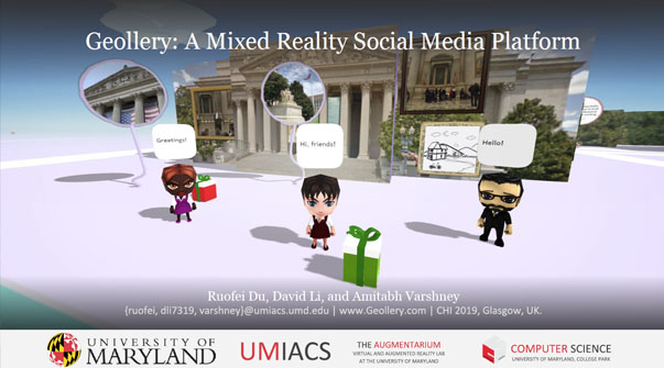 Geollery: A Mixed Reality Social Media Platform Teaser Image.