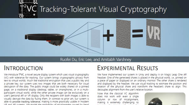 Tracking-Tolerent Visual Cryptography Teaser Image.